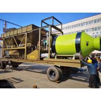 Quality Safe Mobile Concrete Mixing Plant 180D Rotated Trailer Type 22t Machine Weight for sale