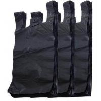 Quality Black Color Biodegradable T Shirt Bags , T Shirt Plastic Shopping Bags for sale