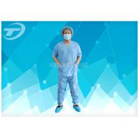 Quality SMS Patient Hospital Disposable Scrub Suits Soft Disposable Medical Gowns , CE certified for sale