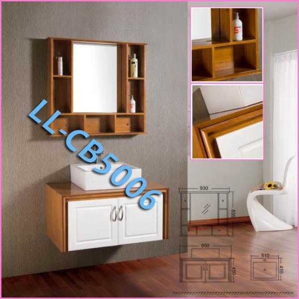 Manufacturer of waterproof oak bathroom vanity cabinet of for Bathroom cabinet manufacturers