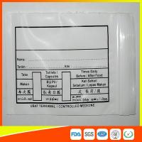 Quality Custom Printed Plastic Medical Ziplock Bags Reclosable Waterproof Non Poisonous for sale