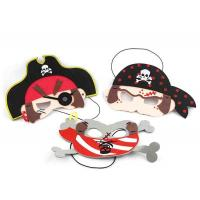 Quality Pirate Design Felt Funny Halloween Masks For Halloween Costume Ball for sale