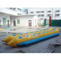 China Banana Boat For Sale / Double Line Tube Inflatable Fly Fishing Boats For Summer Exciting Beach Sports 16 Person on sale