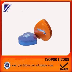 China Heart shaped metal tin can Metal tin box on sale