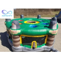 Quality Commercial Outdoor 5m Large Carnival Game Interactive Inflatable Human Whack A Mole For Kids N Adults Party for sale