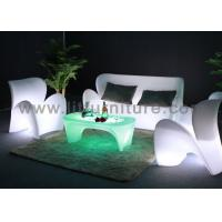 Rechargeable led plastic outdoor led lighted sofa lounge for Advanced molding and decoration sa de cv