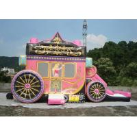 Princess Carriage Inflatable Bouncy Castles With Lead Free PVC Tarpaulin Material