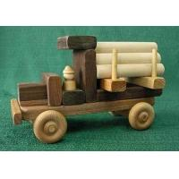 Quality Maple / Walnut Wood Natural Childrens Toy Building Vehicle Blocks for sale