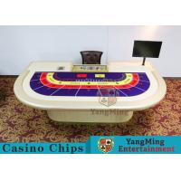 Quality Entertainment Casino Poker Table For 9 Players 2600*1470*800mm for sale