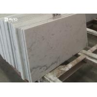Buy Customized 10mm Carrara White Polished Marble Floor Tiles Heat Resistance at wholesale prices