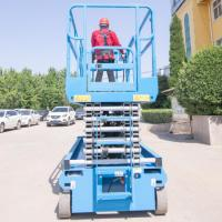 Buy cheap Raised Self Propelled Hydraulic Scissor Lift Control Panels blue color from wholesalers