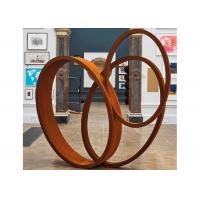 China Large Art Craft Modern Ribbon Corten Steel Garden Sculpture Contemporary Metal Sculpture on sale