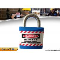 China 20.4mm Steel Shackle Length Jacket Safety Lockout Padlock with Chrome Plating on sale