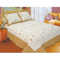 Quality Leaf Pattern Embroidery Quilt Kits With High Standardized Production Line for sale