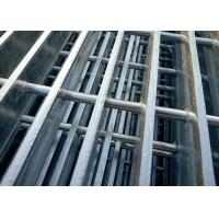 China Hot Dip Galvanized Steel Grating For Power Plant With Round Steel Cross Bar on sale