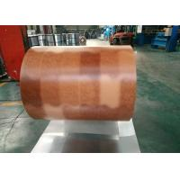Quality Printing Color Prepainted Galvalume Steel Coil 55% Wooden Brick Pattern for sale