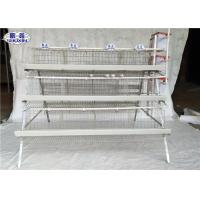 Quality Galvanized Layer Chicken Cage , 3 Tiers Egg Laying Cages 24 Nests for sale