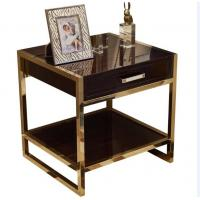 Quality High End Hotel Bedside Tables 1 Drawer For 5 Star , Marble Top Nightstand for sale