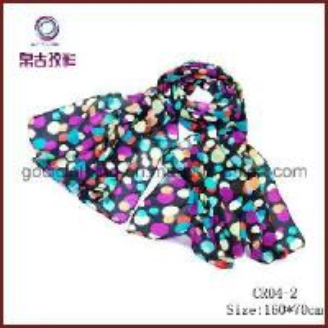 Quality Polka DOT Chiffon Fabric Scarf (CR04-2) for sale
