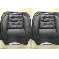 Quality Waterproof Car Seat Covers Grey Color Soft Leather Material With Foam Inside for sale