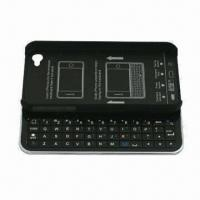 Quality Bluetooth Sliding Keyboard + Hard Shell for iPhone 4 and 4S, with FCC, CE and RoHS Marks for sale