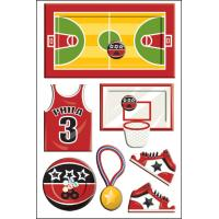 Customized Shaker Sticker for kids Offset printing basketball sports for sale