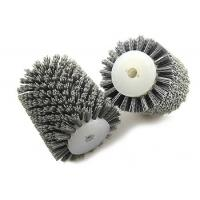 China Portable Industrial Polishing Brushes , Abrasive Nylon Wire Brush Roller on sale