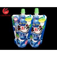 China Laminated Stand Up Pouch With Spout Packaging  / Juice Doypack Manufacter on sale