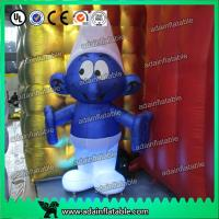 Quality 2M -20M Custom Oxford cloth Inflatable Smurfs With LED Light for sale