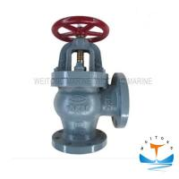 Quality Marine Cast Iron Screw Down Check Angle Valve JIS F7378 16K For Boat for sale