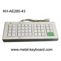 Quality Customized 43 Buttons Metal Kiosk Keyboard, Stainless Steel Vandal Resistant Dust Proof for sale