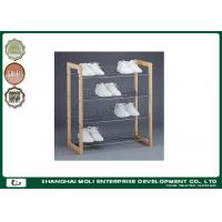 China Easy assemble 3 Tier display stand for shoes , wood and metal shelves for home on sale