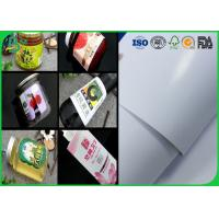 China 914mm Coated Couche Paper 80gsm 90gsm Size Custom Adhesive Label For Stickers for sale