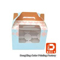 Buy cheap 250 Grams Ivory Board Paper Food Boxes Single Cupcake Boxes With Window from Wholesalers