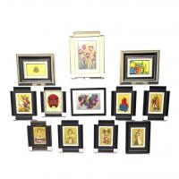 Quality Living Room Metallic Framed Art Handcrafted  Decorative Etch  Silkscreen Printing for sale