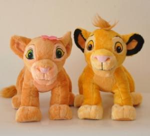 Personalized Stuffed Animals Lion King Simba Plush Toy , Orange