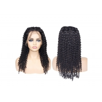 Quality 1b natural black 13x4 lace front wigs human hair with baby hair for sale
