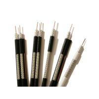 China UL CMR RG59 Coaxial Cable 20AWG CCS with 95% AL Braiding 75 Ohm CATV Cable Black on sale