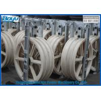 Quality 3x830x110 Three Wheel D830mm Bundled Stringing Blocks Size Under 630mm2 Line Stringing Rope for sale