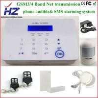 China phone audible and SMS alarming intercom home security wireless gsm alarm on sale