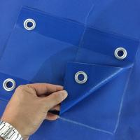 Quality PVC Large Waterproof Tarps For Roofing Covering 650gsm 1000d * 1000d 20*20 for sale