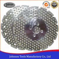 Double Side Dots Electroplated Diamond Tools For Marble / Granite Cutting