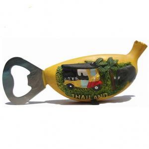 China Resin bottle opener banana shape fridge magnet souvenir on sale