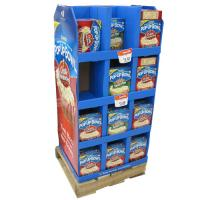 Supermarket Promotion Cardboard Pallet Display Rack For
