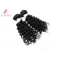 Quality Comfortable Peruvian Deep Wave Hair Bundles Without Fiber No Chemical for sale