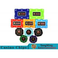 Quality Circular / Square Shape Professional Poker Chip Set With 25 Pcs In A Shrink Roll for sale