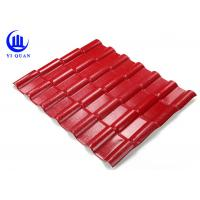 Asa Coated Synthetic Resin Roof Tile 150 Kgs Load Capacity Guangzhou Red Plastic Roofing Sheets