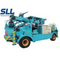 Wet mix concrete sprayer trailer robot arm electric motor and diesel two-motor drive