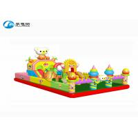 Quality Cute Little Bear Commercial Inflatable Bounce Castle PVC Tarpaulin With Slide for sale