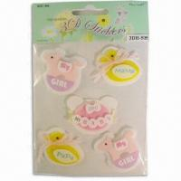 Buy cheap handmade 3d stickers in assorted designs from wholesalers